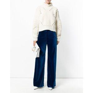 Dries Van Noten • blue velvet trouser